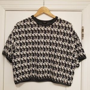 Chanel Knit Cropped Short Sleeve Top